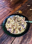 Linguini with Mushroom & Wine Sauce